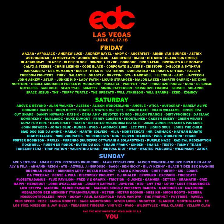 EDC Las Vegas 2017 Lineup Announced   Billboard