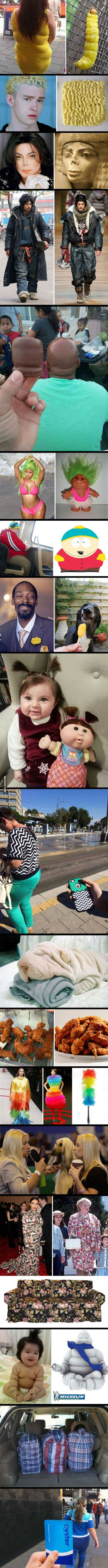Who wore it better? The little girl with the doll is too cute!