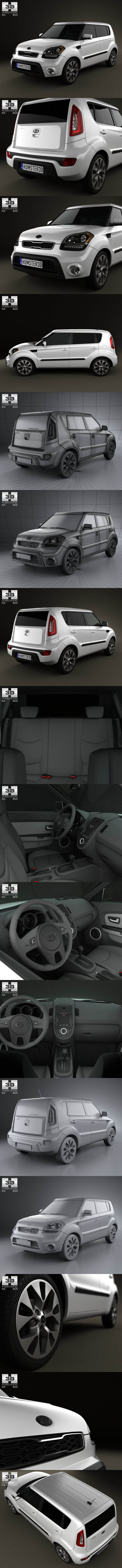 Kia Soul with HQ Interior 2012. 3D Vehicles