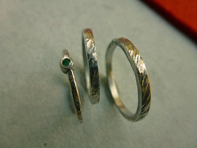 Ehe-Ringe+aus+Silber/Smaragd+im+DREIER-SET+von+SCHERK-SCHMUCK+-+schmuck+&+kunst+SCHERK+auf+DaWanda.com
