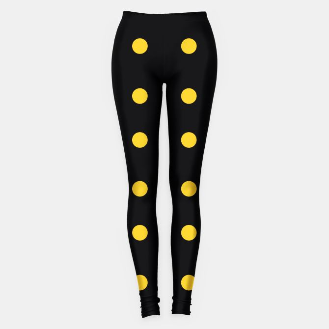 Artistic Leggings black with Yellow Dots