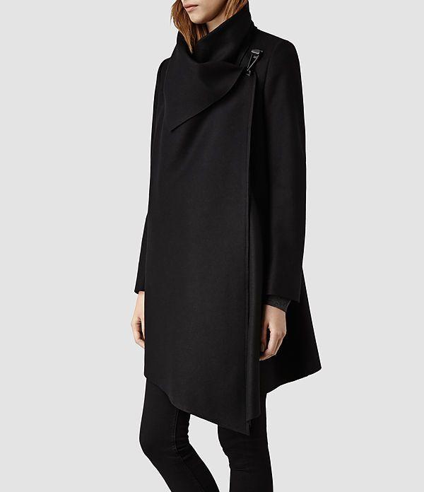 Womens City Monument Coat (Black) - product_image_alt_text_2