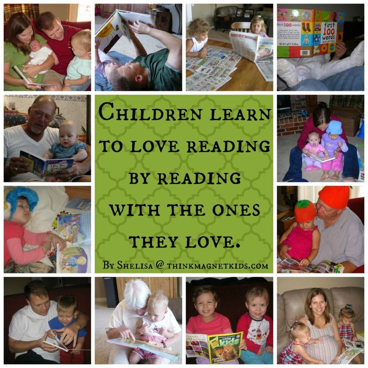 """Children learn to read by reading with the ones they love."" #thinkmagnetkids.com"