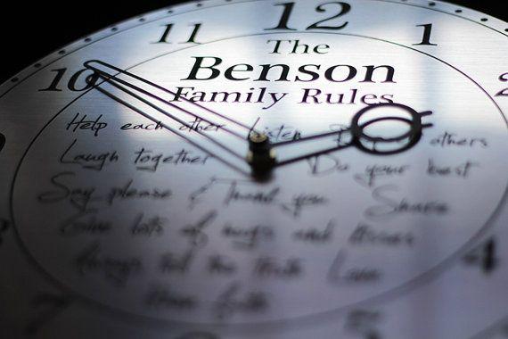 Personalised Wall Clock Silver Wall Clock Wedding by esprint09