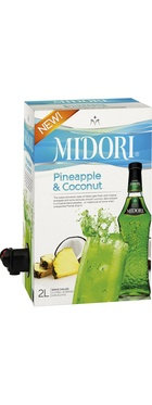 When the sun comes out it's time to enjoy one of life's great pleasures is the refreshing and classic flavours of Midori. Available here in the convenient 2L cask and mixed with the summertime flavours of Pineapple and Coconut, this is a partytime must-have