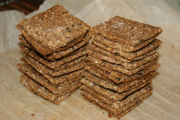 Sesame Crackers---Gluten Free, Grain Free