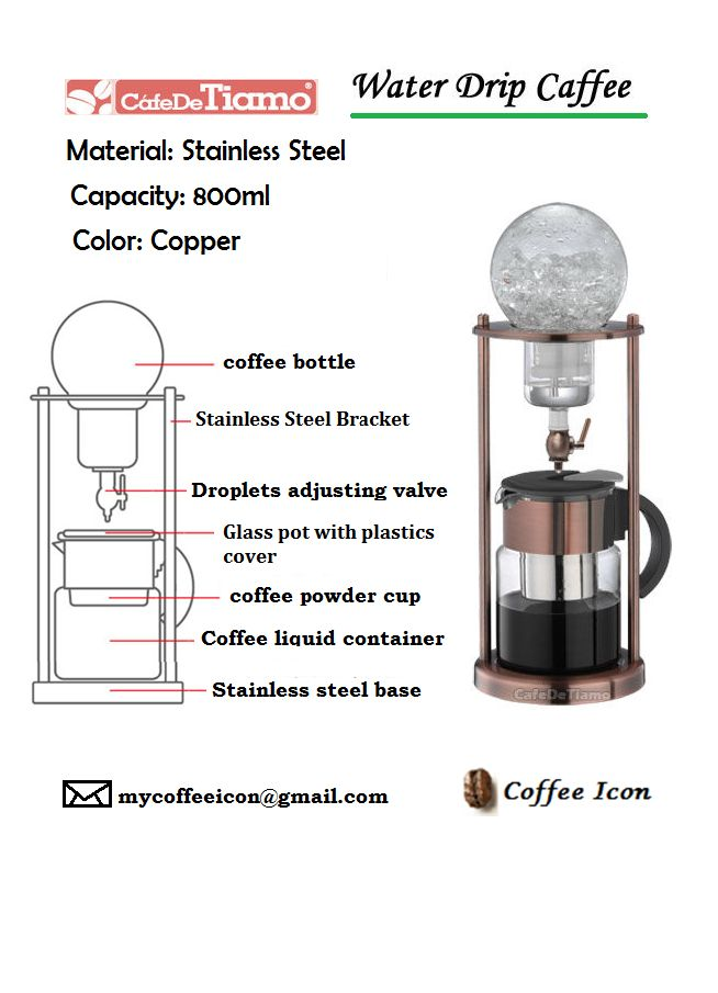 coffee COLD BREW COLD DRIP DRIP COFFEE MAKER WATER DRIP ...