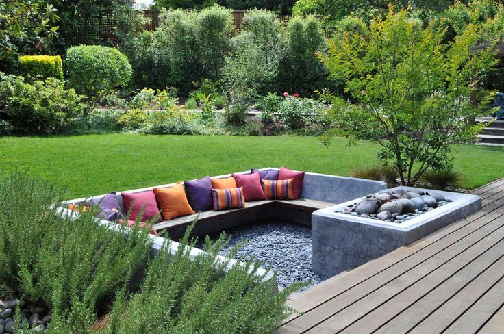garden seating with sunken fire pit - Google Search