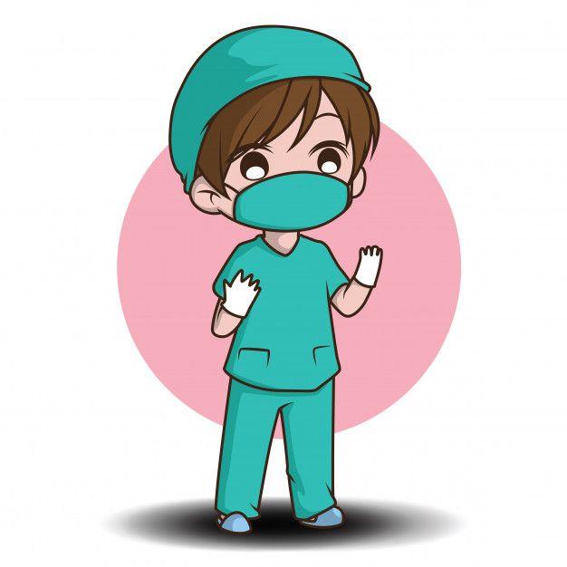Cute Cartoon Character Doctor Style Pre Free Vector Freepik Freevector Freepeople Freebaby Cute Cartoon Wallpapers Cute Cartoon Characters Nurse Art