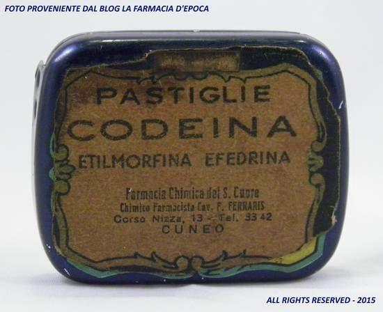 La #Farmacia del Sacro Cuore di #Cuneo, quando faceva le pastiglie per la tosse non scherzava affatto: eccovi le Pastiglie CEE, ossia Codeina Etilmorfina ed Efedrina.