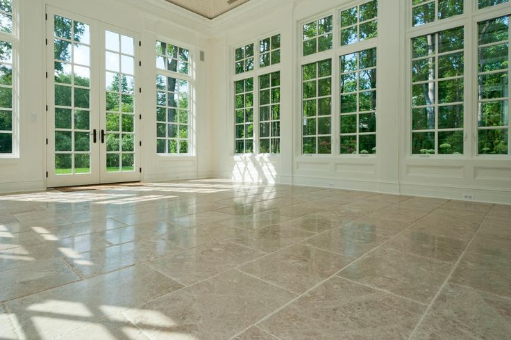 Pin by jennifer matheny on kitchens pinterest for Sunroom tile floor ideas