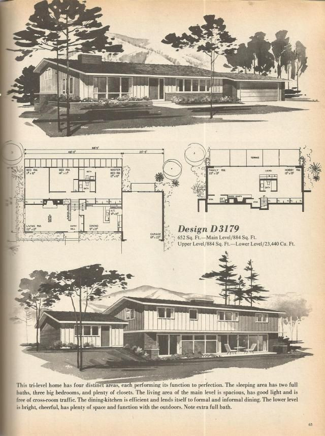 146 Best Images About Vintage House Plans 1970s On