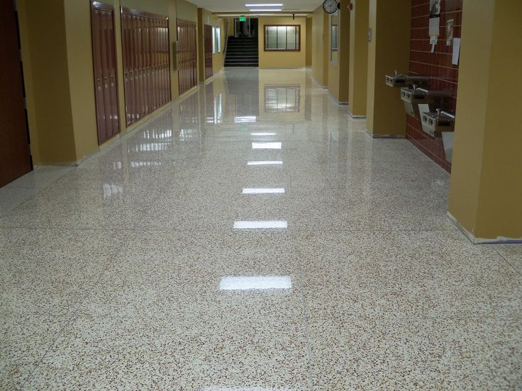 Terrazzo Floor Vitrified At South Gibson High School By