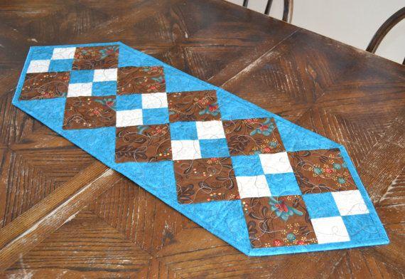 Gewatteerde tabel Runner Patchwork-Quilt Runner Decor van