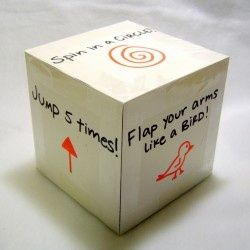 Exercise cube/ dice for kids misc
