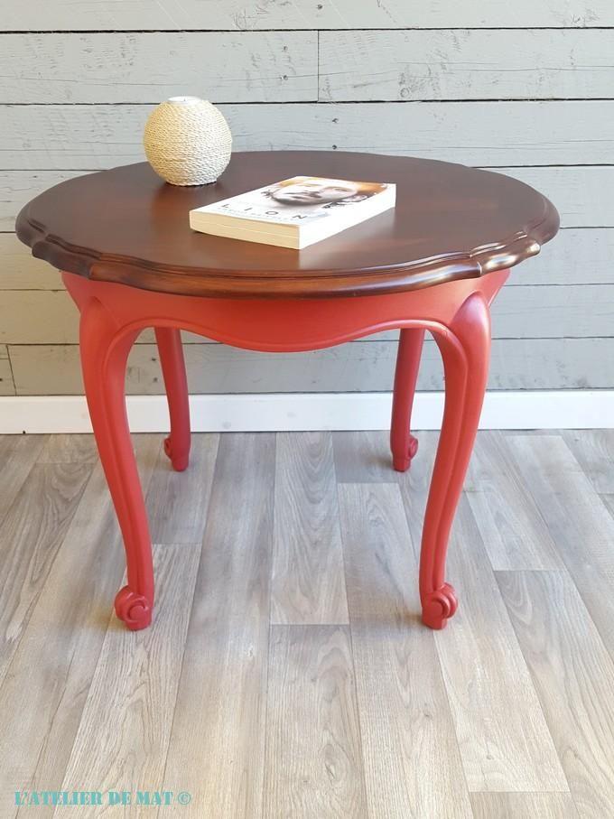 Restyler Une Table Basse Louis Xv Avec De La Couleur L Atelier De Mat Repeindre Table Basse Table Basse Mobilier De Salon