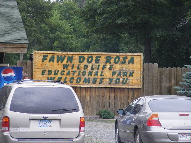 fawn doe rosa in wisconsin | Fawn Doe Rosa Park sign | Flickr - Photo Sharing!