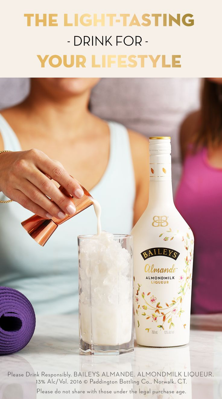 If you want to enjoy shamelessly good cocktails, get your friends together and try Baileys Almande™. This new dairy-free and gluten-free almondmilk liqueur makes for some deliciously light tasting drink recipes. Combine it with Vita Coco Coconut Water or pour it over ice, and enjoy!