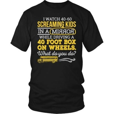 School Bus Driver - What Do You Do - District Unisex Shirt / Black / S - 1