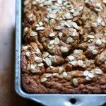 Whole Wheat Oatmeal Applesauce Banana Bread {healthy + vegan-friendly}