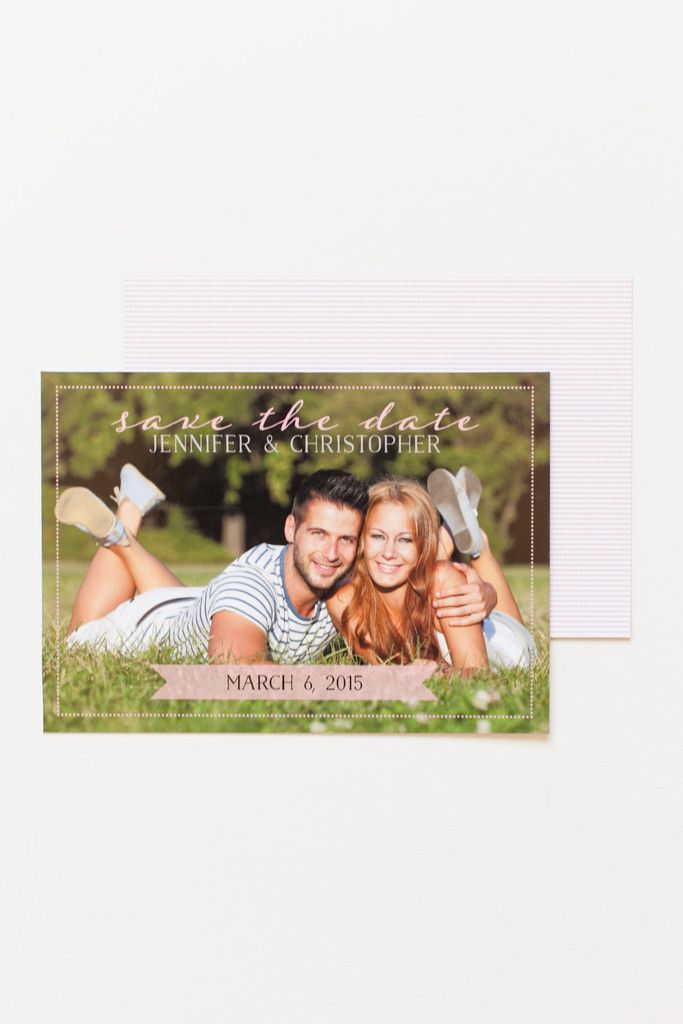 Dashes Save the Date Card // www.ivystripe.com