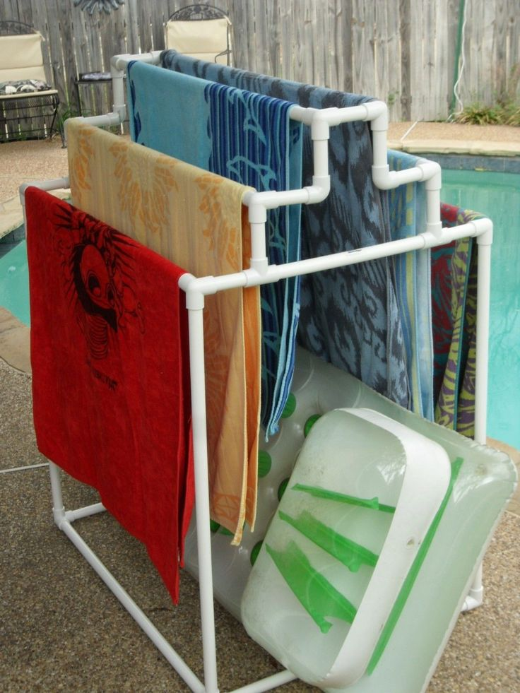146 best images about storage solutions on pinterest for Outdoor towel caddy