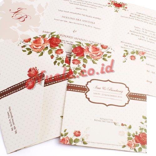 Kartu Undangan pernikahan // 081322349644 Ina & Bambang
