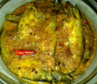 How to make Ilish Macher Paturi (Bengali Hilsa Curry) -  Ingredients:Fish Steaks - 3, cleaned, washed, pat driedGinger Garlic Paste - 1 1/2 to 2 tblspPlain Yogurt - 1/3 cupTomato - 1, small, groundOnion -