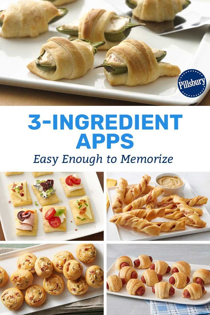 3 Ingredient Appetizers Easy Enough To Memorize Vegetarian Appetizers Easy Cold Appetizers Easy Cold Party Appetizers