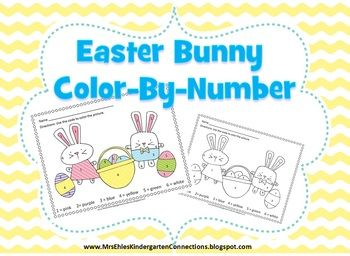 Enjoy this easter bunny color by number freebie if you for What is the easter bunny s phone number