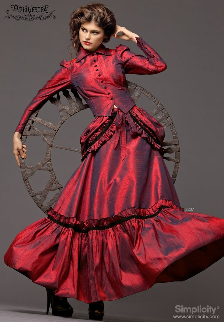 from Riley steampunk victorian dress tranny