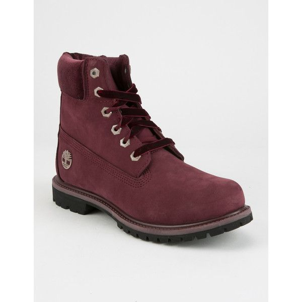 """Timberland 6"""" Premium Boots (£130) ❤ liked on Polyvore featuring shoes, boots, ankle boots, water proof boots, timberland shoes, bootie boots and short boots"""