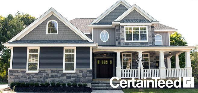 Granite Gray Siding Vinyl Carolina Beaded House Siding House Exterior Blue House Exterior