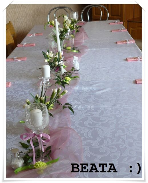 -Szczęśliwy człowiek ,który posiada pasję... -: Dekoracja stółu .