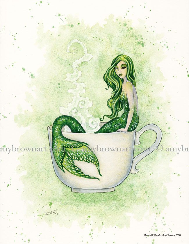 PRINTS - Coffee and Tea Faery Prints - Amy Brown Fairy Art - The Official Gallery