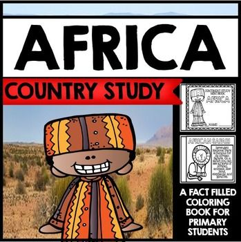 "This 22 Page ""All About Africa"" country study mini booklet project is perfect your upcoming Africa unit, lesson, multicultural study, cultural fair, or country study. Full of information about Africa, this fun coloring book includes information about Africa written in engaging informational text that is perfect for the lower elementary grades."