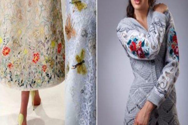 Сумасшедшая нитка: одежда в технике Crazy Wool… Получаются оригинальные, эксклюзивные вещи! — БУДЬ В ТЕМЕ