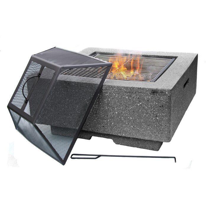Gardeco Tisch Mit Feuerstelle Stone Wayfair De Feuerstelle Feuer Feuerstelle Garten