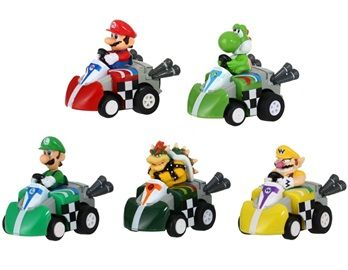Super Mario Wind Up Racing Car Set 5 Pieces This racing car set is inspired by the Super Mario game and makes a perfect gift for your children.