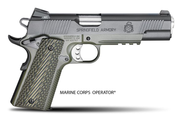 The Springfield Armory 1911 Marine Corps Operator. Beautiful gun, isn't it? We saw it at SHOT Show and haven't stopped drooling. #1911 #SHOTSHow