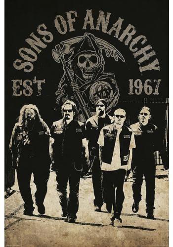 """Poster verticale """"Reaper Crew"""" della serie televisiva #SonsOfAnarchy."""