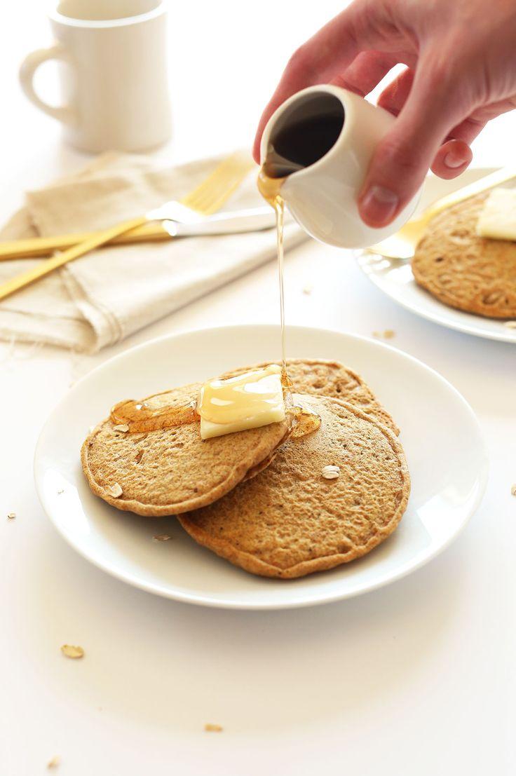 Whole Grain Vegan Pancakes   Minimalist Baker Recipes