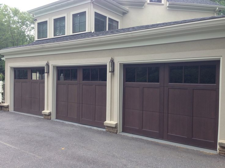 17 best images about carriage wood garage doors and for Stained garage doors