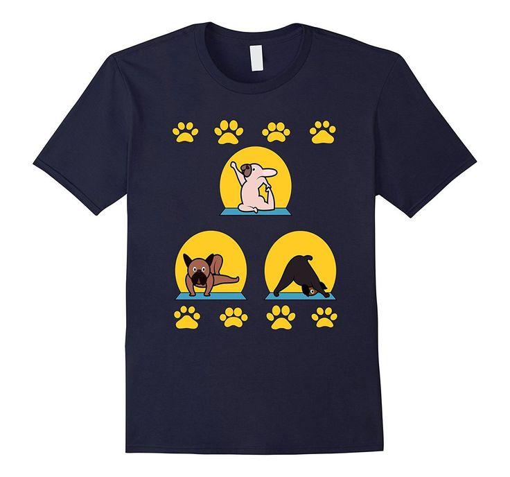 Funny Yoga Dog T-shirt Pet Zoo Farm Animal Fitness Quote