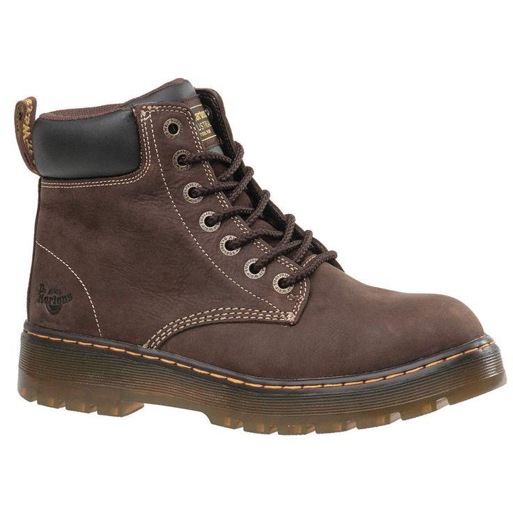 68 dr martens 6 work boot 7 m mens brown steel