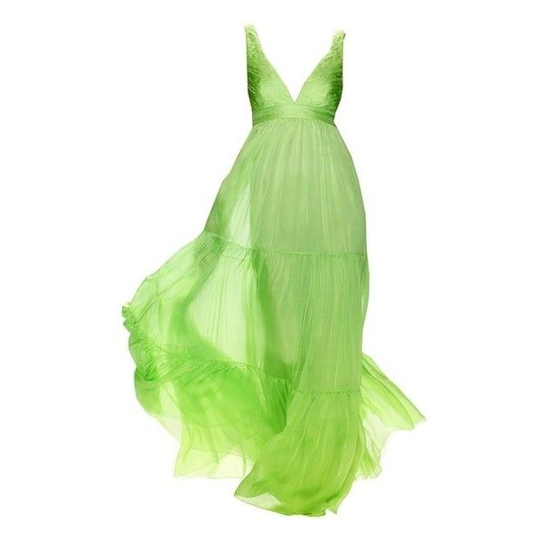 DRESS ❤ liked on Polyvore featuring dresses, gowns, long dresses, vestidos, green dress, green gown, green evening dress and green ball gown