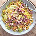 Salade colorée méli mélo printanier