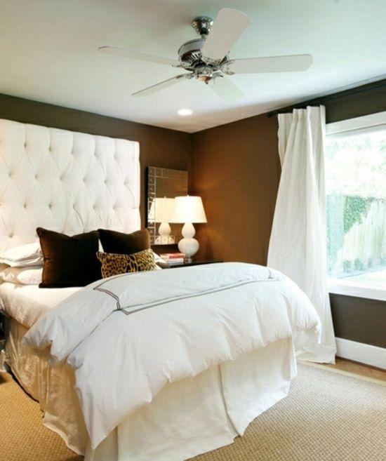 Peinture chambre en marron - quelques idées | Deco chambre ...