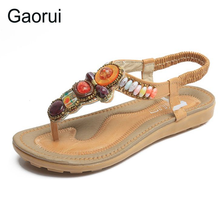 Optimal Womens Summer Sandals Rhinestone Flip Flops Beach Vintage Soft Comfortable Shoes