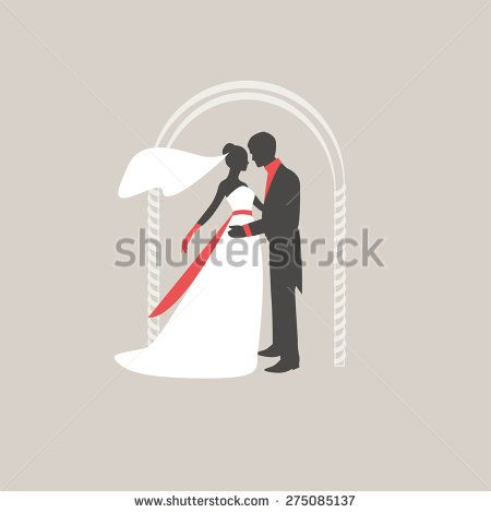 Retro silhouettes of the bride with the groom in the wedding arch. Bride and groom embracing and kissing. Vector http://www.shutterstock.com/pic-275085137/stock-vector-retro-silhouettes-of-the-bride-with-the-groom-in-the-wedding-arch-bride-and-groom-embracing-and.html?src=uIoWRQhlFCQnBgd6x4YVpw-1-8